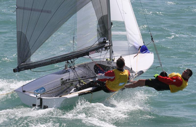 Happy sailors at the SAP 505 Worlds in Weymouth, sponsored by Allen - photo © Mark Jardine