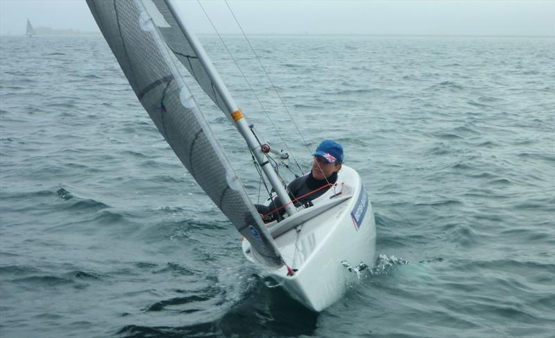 Megan Pascoe sailing her 2.4mR in Weymouth - photo © Allen Brothers