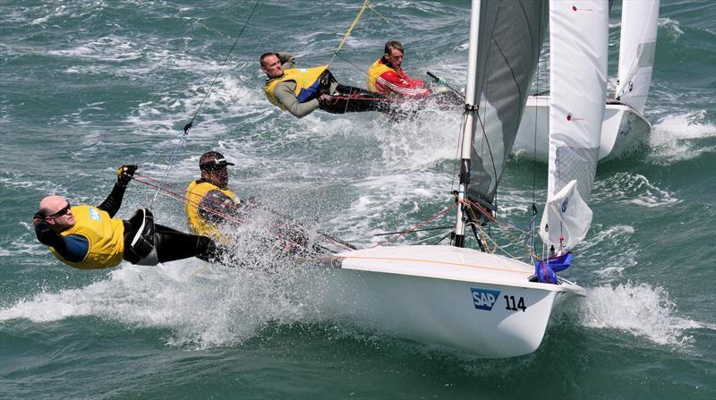Tom Gillard & Richard Anderton at the 2016 SAP 505 Worlds in Weymouth - photo © Mark Jardine / YachtsandYachting.com