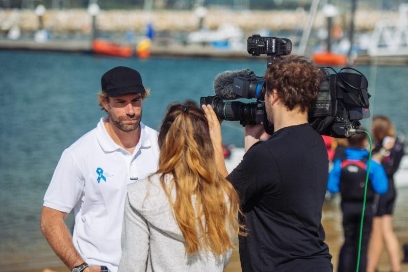 ASF Trustee Iain Percy is also one of many superb Ambassadors for the Foundation & Bart's Bash. Iain is also great at getting the message out to the world i.e. sign up to Bart's Bash and you're helping to get more disadvantaged young people out sailing! - photo © Martin Allen