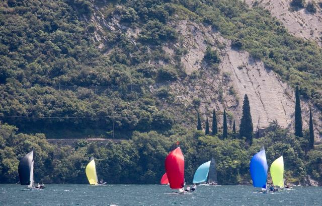 B14 Worlds at Lake Garda day 1 photo copyright Tim Olin / www.olinphoto.co.uk taken at Circolo Vela Torbole and featuring the B14 class