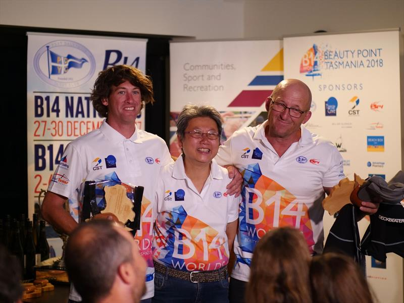 B14 Worlds prize giving: Dave Loutit & Dave Grace, 2nd Handicap - photo © Steve Miller