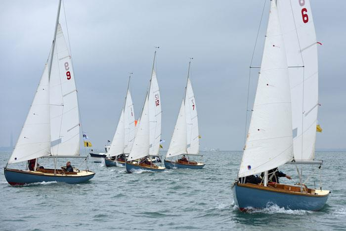 Bembridge One Designs race boat for boat on day 3 at Charles Stanley Direct Cowes Classics Week - photo © Rick Tomlinson / www.rick-tomlinson.com