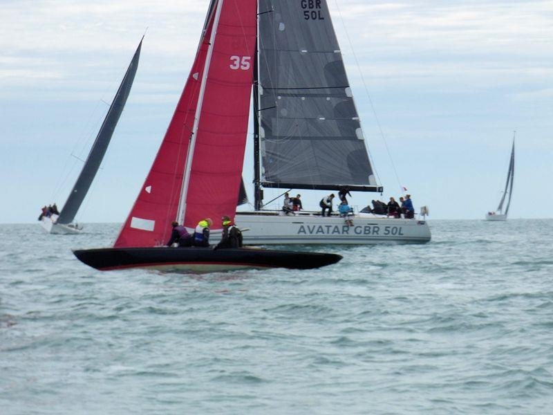 Bembridge Redwing and One-Design racing on the Round the Island Race weekend - photo © Mike Samuelson
