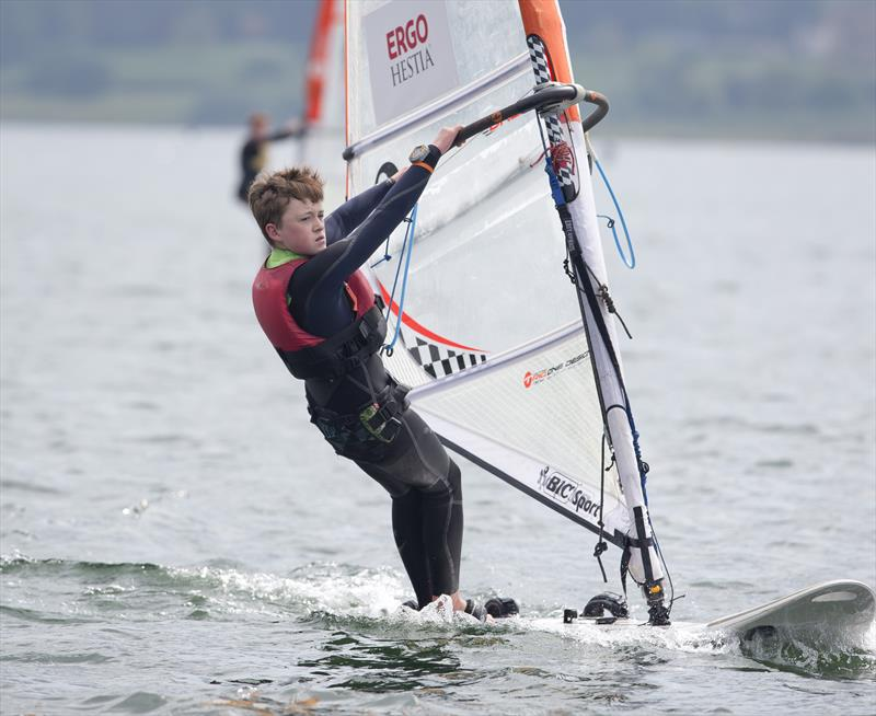 Techno sailor Billy Ellis on day 2 of the RYA Eric Twiname Championships - photo © Dan Towers / onEdition / RYA