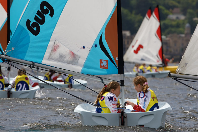Almost 100 Cardiff schoolchildren were given the chance to take part in their first sailing regatta in Cardiff Bay over the weekend, thanks to the OnBoard scheme