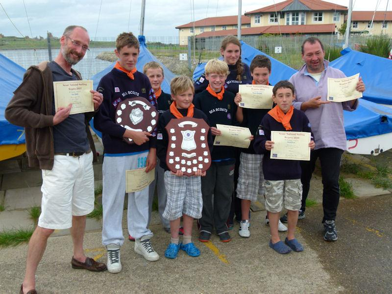 ... Stuart Went win the U13 category at the Scout National Sailing Regatta