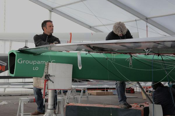 Groupama C preparing for the International C Class Catamaran Championships