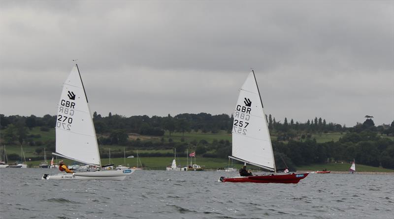 Val Millward (1st overall) leading Graham Hall (2nd overall) during the Challenger UK Nationals at Rutland - photo © Tony Mayhew
