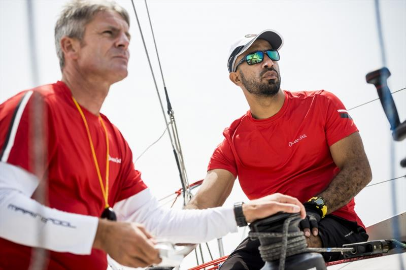 Sidney Gavignet and Fahad Al Hasni prepare for the Transat Jacques Vabre from Le Havre to Brazil photo copyright Vincent Curutchet taken at Oman Sail and featuring the Class 40 class