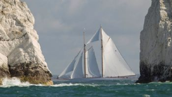 'Eleonora' at the needles in the J.P. Morgan Asset Management Round the Island Race