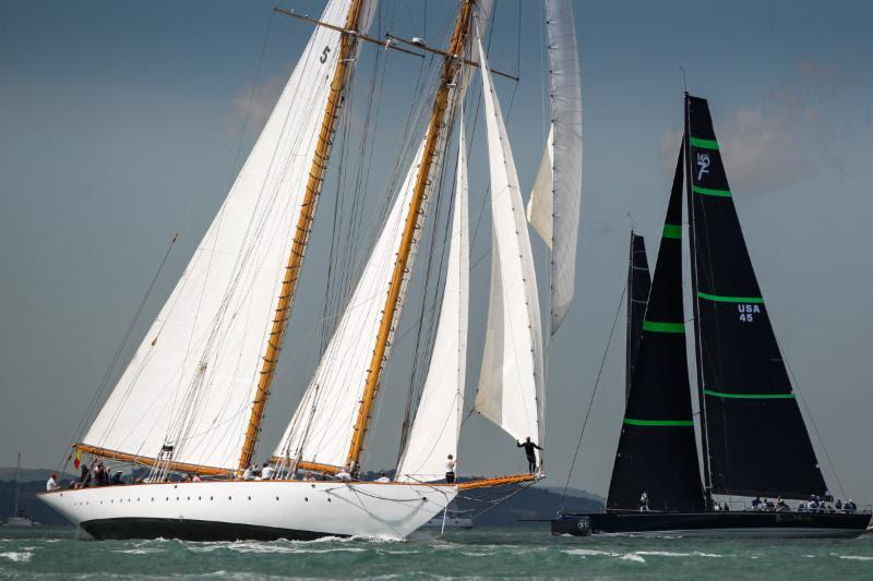 Eleonora and Bella Mente on day 5 of the RYS Bicentenary International Regatta photo copyright Paul Wyeth / www.pwpictures.com taken at Royal Yacht Squadron and featuring the Classic Yachts class
