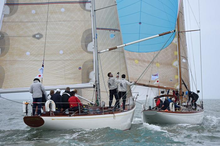 Firebrand chases Bojar on the 'Red 1' course at Charles Stanley Direct Cowes Classics Week - photo © Rick Tomlinson / www.rick-tomlinson.com