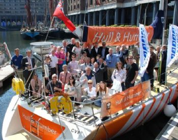 CRYC Members onboard Hull and Humber during the Clipper Race Yacht Club launch at St Katharine's Dock