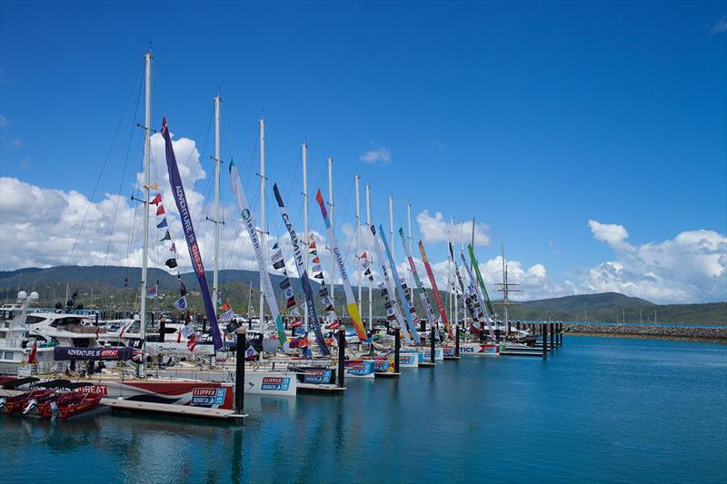 The Clipper Race fleet in the Whitsundays photo copyright Abell Point Marina taken at  and featuring the Clipper Ventures class