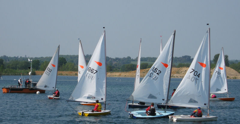 Comets at Maidenhead photo copyright Linda Welham taken at Maidenhead Sailing Club and featuring the Comet class
