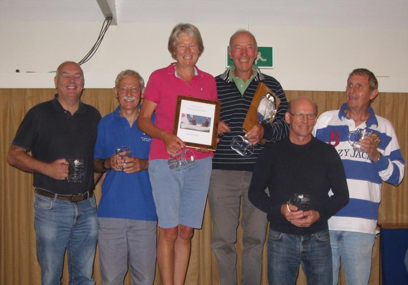 Prize winners in the Noble Marine Comet Trio Nationals at Exe - photo © Marilyn Booker