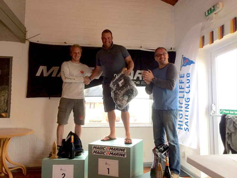 Top three in the Contender Europeans at Highcliffe - photo © Sarah Desjonqueres