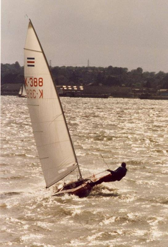 Something of a rarity! A  homebuilt boat that would go on to win two World Championships (one of which was an exceptionally windy affair out in Brisbane) - photo © S. Daniel / I. Ridge