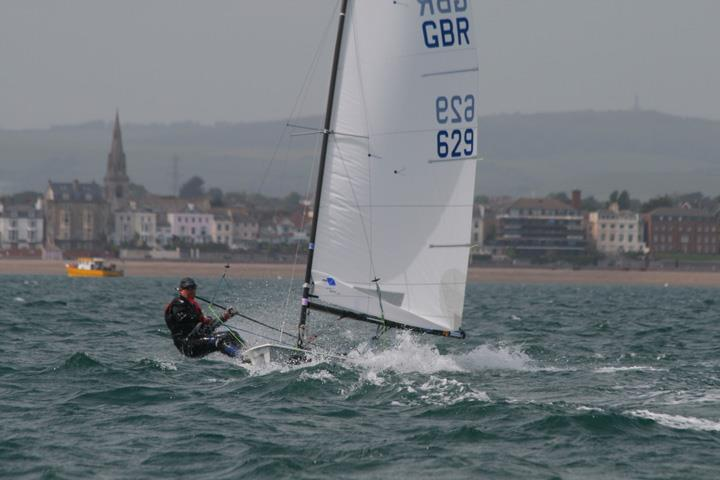 Mark Lee sailing his Contender from Weymouth in 2011 - photo © CCSC