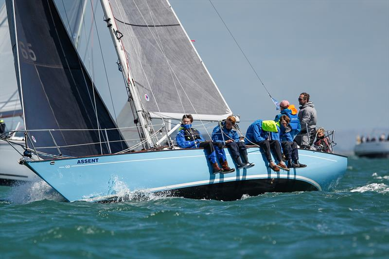The Assent crew during racing on day 3 of Lendy Cowes Week 2017 - photo © Paul Wyeth / CWL