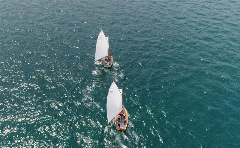 Rhapsody in front during the Portsea Cup - photo © Bob Fowler