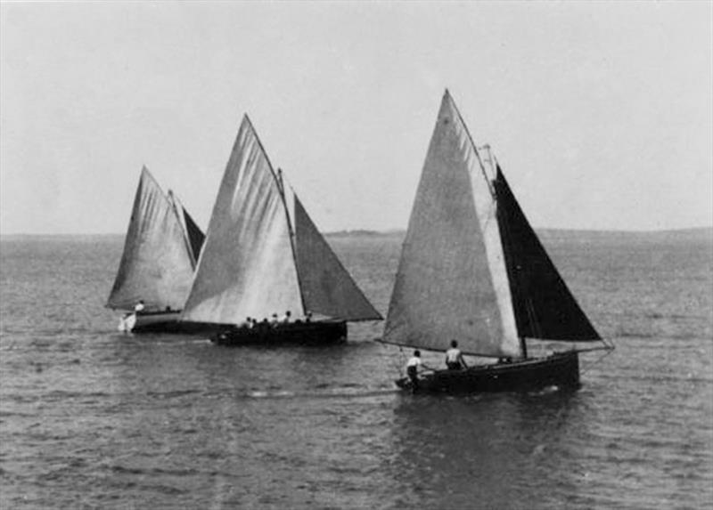 Muriel and Suprise racing in the old fishing days - photo © Archive
