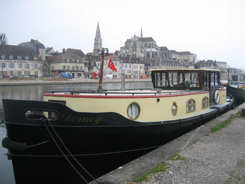 Mark & Jane have a part share in the barge Dorney kept in France - photo © Mark Lee