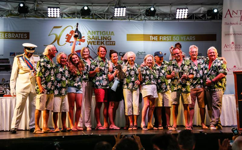 Mike Cannon & Neil Harvey's KHS&S Contractors from Florida, USA win CSA Bareboat Overall  at the 50th Antigua Sailing Week - photo © Paul Wyeth / www.pwpictures.com
