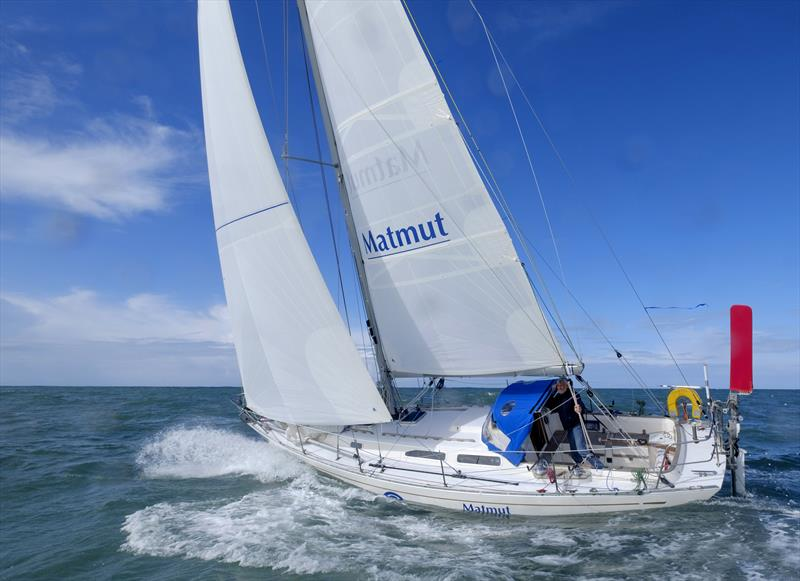 Jean-Luc van den Heede (72) sailing his Rustler 36 MATMUT. The Frenchman has completed 5 circumnavigations already and is one of the favourites to win the 2018 Golden Globe Race - photo © Jean-Luc van den Heede