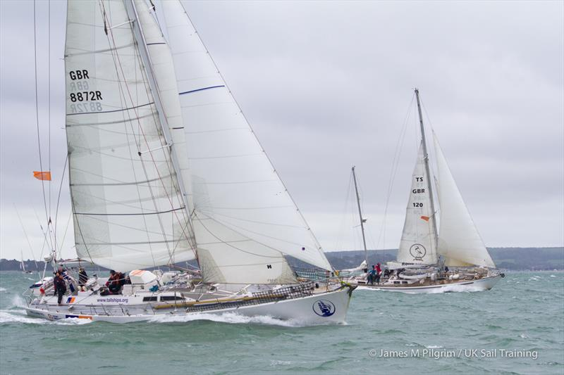 Challenger and Donald Searle during the Small Ships Race - photo © James M Pilgrim / UK Sail Training