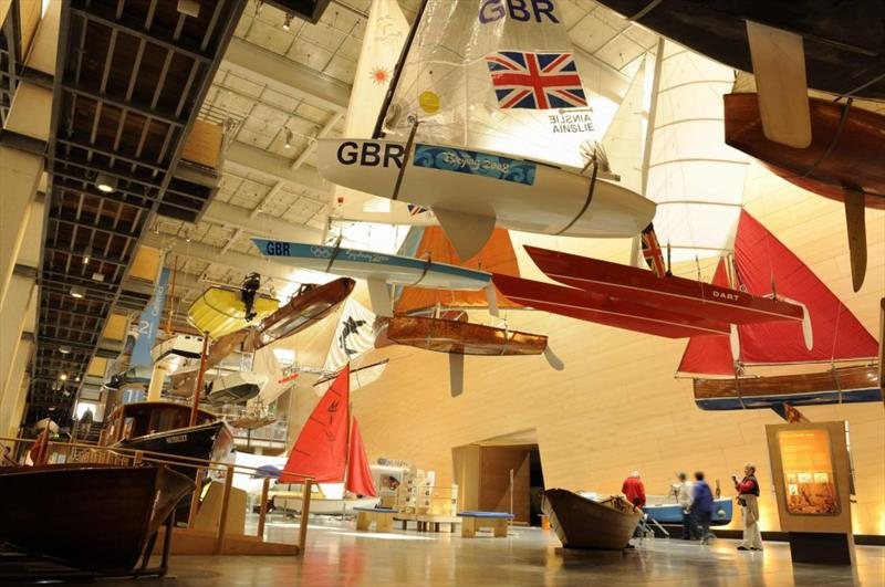 From Mirror Number 1, through Olympic medal winning FDs, Lasers and Finns, the National Maritime Museum at Falmouth is the rightful resting place of these iconic boats. There is so much more though to our heritage that is slipping away to be lost forever - photo © National Maritime Museum