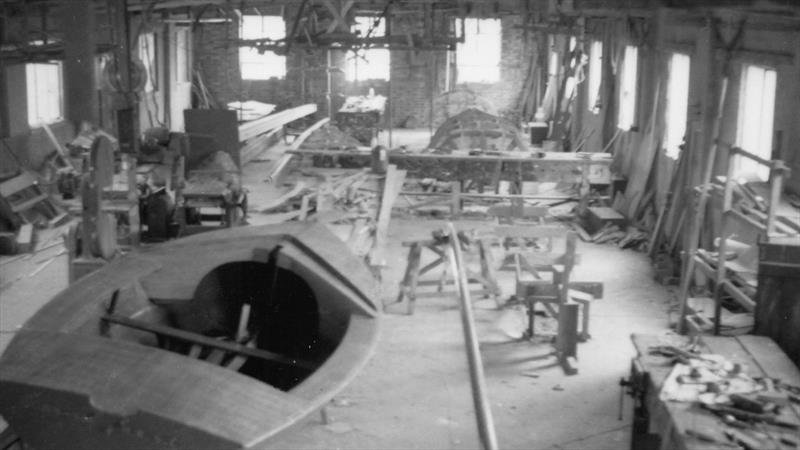 Jack Chippendale's first workshop, at Warsash, was typical of the boatbuilders of the day and would have exerted a strong attraction for Ian Proctor photo copyright Dougal Henshall taken at  and featuring the Classic & Vintage Dinghy class
