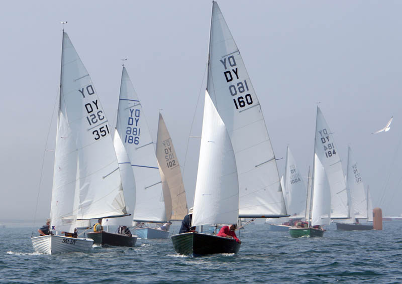 Light winds & sunshine for the Devon Yawl nationals at Weymouth photo copyright Steve Bell / www.fotoboat.com taken at Weymouth & Portland Sailing Academy and featuring the Devon Yawl class