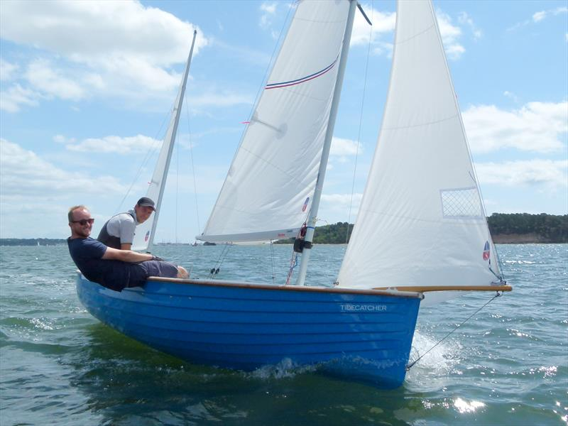 Tidecatcher wins race 1 of the Devon Yawl Nationals at Parkstone photo copyright Mike Roberts taken at Parkstone Yacht Club and featuring the Devon Yawl class
