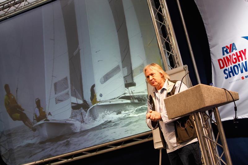David Henshall talking at the Dinghy Show - photo © Paul Wyeth / RYA