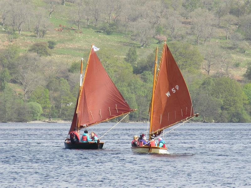 Classic dinghies sailing from the Glenridding Sailing Centre in the Lake District