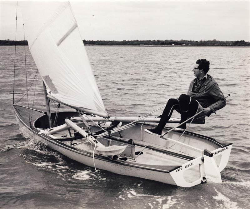 The criteria for the Trials were left deliberately open, allowing designers to be creative as to how they would extend the helm's weight outboard. However, some were more creative than others! - photo © D. Thomas Family