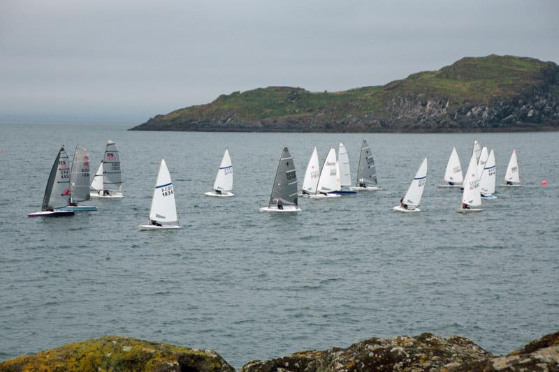 The start of the Icebreaker Trophy race, with Craigleith in the background photo copyright Alan Thomson taken at East Lothian Yacht Club and featuring the Dinghy class
