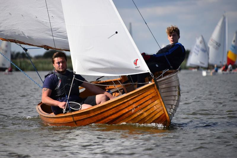 George Curtis and Andrew Morgan, winners of the Whelpton Trophy for best double-hander, at the Broadland Youth Regatta - photo © Trish Barnes