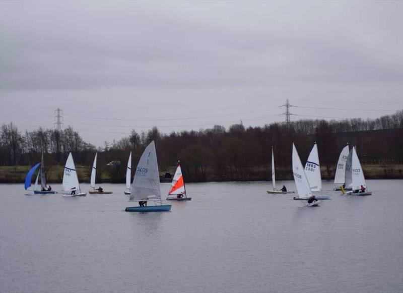 Ripon SC New Year's Day Whiskey Stakes photo copyright Gail Jackson taken at Ripon Sailing Club and featuring the Dinghy class