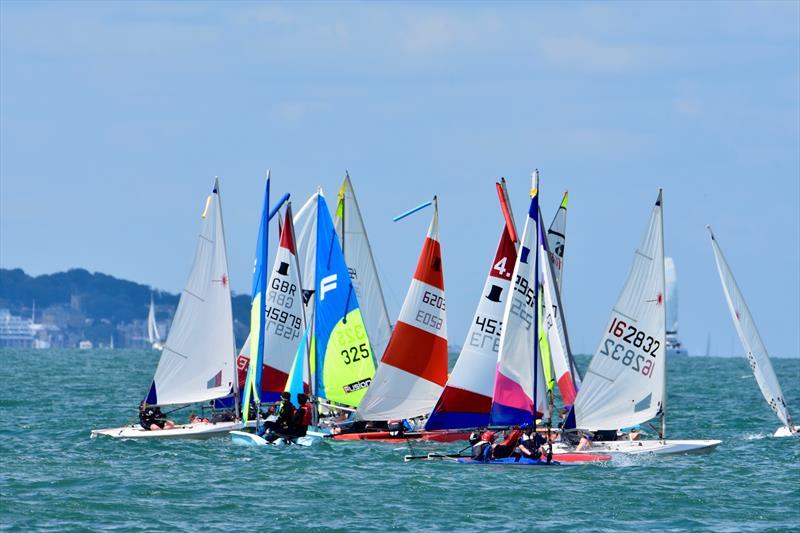 Stokes Bay Sailing Club Cadets - photo © Lorraine Bugden