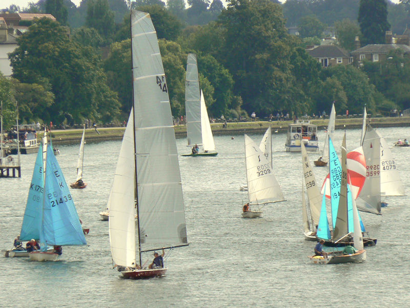 View from the bridge – Minima Regatta from Kingston Bridge on Saturday afternoon photo copyright Peter Halligan taken at Minima Yacht Club and featuring the Dinghy class