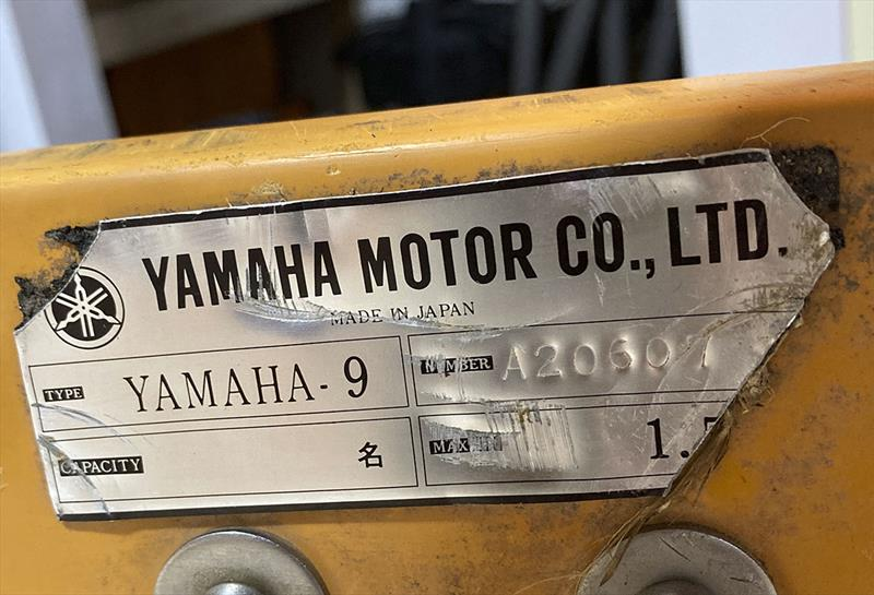 Yamaha 9 - it says so on the builder's plaque. - photo © Christian