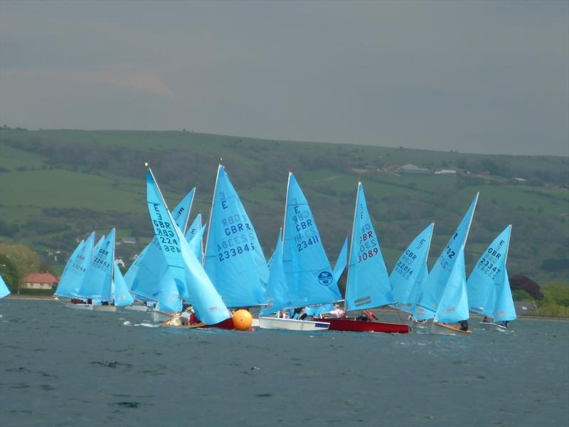 Gybe mark action during the Enterprise Inlands at Bristol Corinthian - photo © BCYC