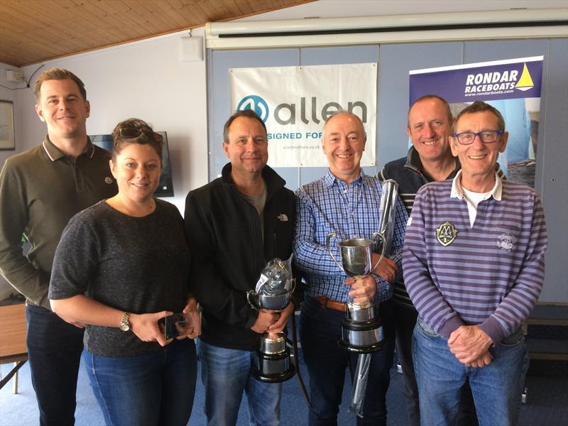 Allen Enterprise Inlands at Cardiff (l-r) Darren Roach, Natalie Roach, Simon Cook, Tim Sadler, John Blundell, Pete Blundell - photo © Carol Ford