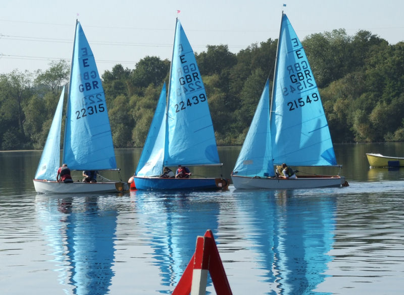 Enterprises at Aldenham photo copyright Wilf Kunze  taken at Aldenham Sailing Club and featuring the Enterprise class