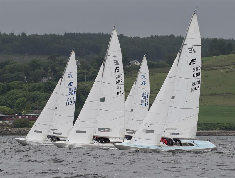 Etchells on day 1 of the Old Pulteney Mudhook Regatta - photo © Neill Ross