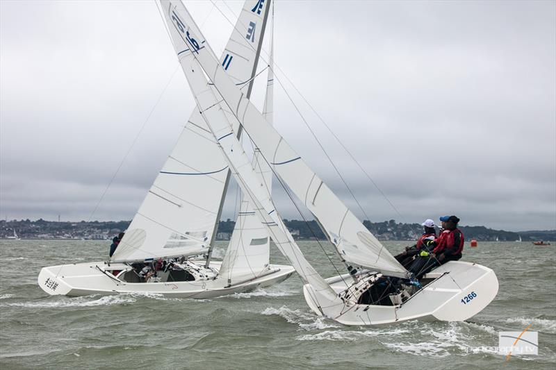 The Gertrude Cup 2017 photo copyright www.sportography.tv taken at Royal Thames Yacht Club and featuring the Etchells class