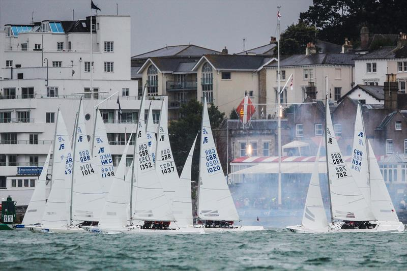 Etchells start on day 5 at Lendy Cowes Week 2017 photo copyright Paul Wyeth / CWL taken at Cowes Combined Clubs and featuring the Etchells class